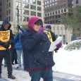 Jess Sundin speaking at January 25 rally against grand jury witch hunt