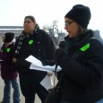 Cherrene Horazuk, President of AFSCME Local 3800, speaking in support of upping