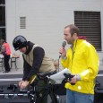 Brad Sigal of MN Committee to Stop FBI Repression speaks before the ride begins
