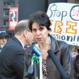 Stephanie Weiner speaks at press conference to condemn FBI repression