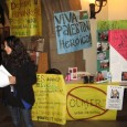 Students for Justice in Palestine held a table inside