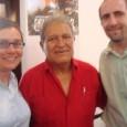 Salvador Sanchez Ceren with Cherrene Horazuk and Brad Sigal