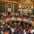 Inside the capitol during massive protest at WI State Capitol, 2/26/2011