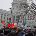 Massive protest at WI State Capitol, 2/26/2011
