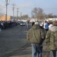 Workers rally outside Mannsted & Sons metal fabrication plant in LaCrosse
