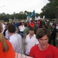 Hundreds march against anti-Islam bigotry in Gainesville, FL.