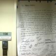 """A letter demanding """"full legalization for all 11 million now"""" is left on Senator"""