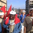 Members of the Seafarers Union from Maryland marching.