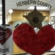 Valentines Day heart left for the sheriff with 'no more deportations' message