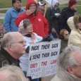"Some of the people at the anti-immigrant ""tea party"" rally"