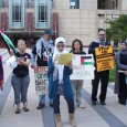 Palestine solidarity contingent at Sept. 24 protest.