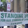 Banner: Standing up for our standard of living.