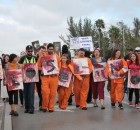 Protest demands the closure of the U.S. prisons at Guantanamo Bay