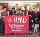 Ed Cubelo with leaders of Minnesota's labor movement and tour organizers.