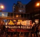 Milwaukee protest against 'right to work' legislation.