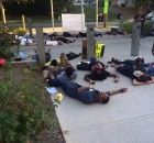 Oct. 22 die-in at Tallahassee Police Department.