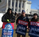 Wisconsin Teamsters protest 'Right to Work' law