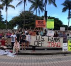 Miami protest against U.S. intervention in Iraq.