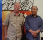 Jose Maria Sison with Fight Back! editor Mick Kelly