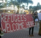 "Miami protest says ""Refugees welcome here!"""