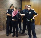 University of MN police handcuffing pro Palestine protester