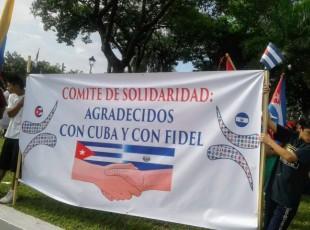 Marcha en solidaridad con Cuba el 27 de julio en San Salvador