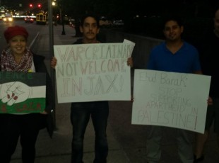 Jacksonville protest against the the visit of Israeli war criminal Ehud  Barak.