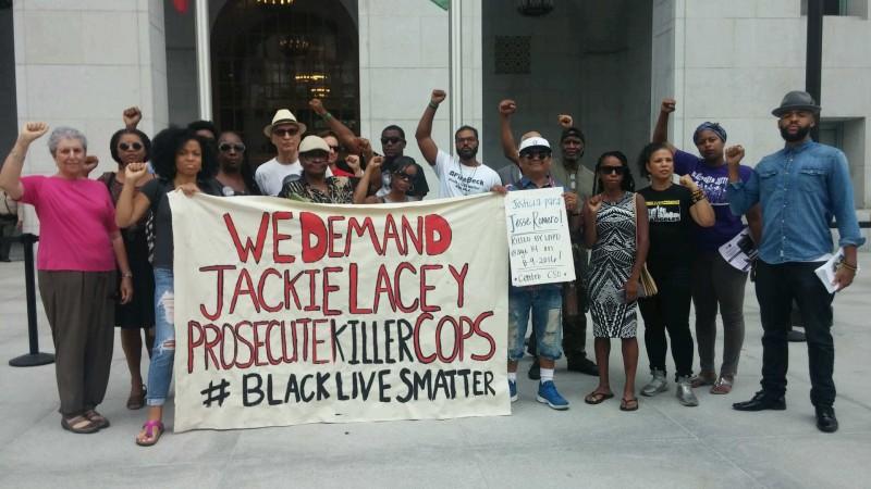 Black and Brown unite to demand LA district attorney prosecute