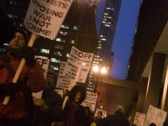 Protest in Chicago against FBI / Grand Jury repression of anti war activists.