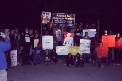 """Some of the protesters demanding """"Justice for Trayvon Martin!"""""""