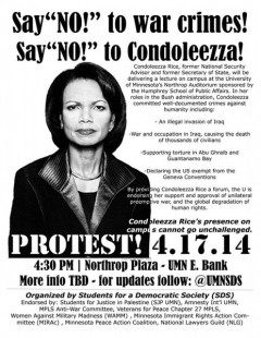 Protest flyer