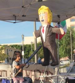 Taking practice swings at Trump