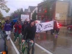 October 13 Milwaukee protest demands justice for Derek Williams.