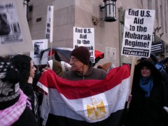 Chicago protest in solidarity with people of Egypt.