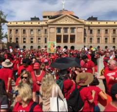 Striking teachers in Arizona.