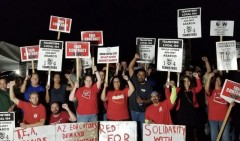 Educators show solidarity with Asarco strikers.