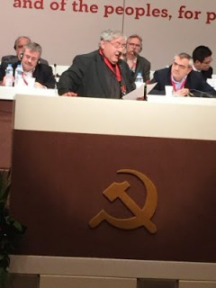 Andy Brooks, New Communist Party of Britain addresses 20th international meeting