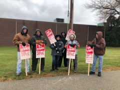 Striking IAM members in Appleton, WI.