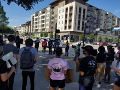 Protest against police crimes in Arlington, TX.