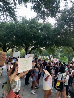 Austin protest against attacks on reproductive rights of women.