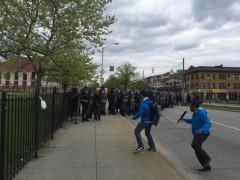 Baltimore police prepare to attack high school students
