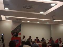 Richard Blake addressing World Working Youth Congress in Rome.