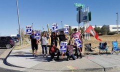 UAW picket line at Colorado GM facility.