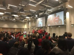 CTU strikers victory rally.