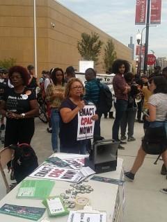 Bertha Escamilla of the Chicago Alliance Against Racist and Political Repression