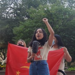 Janessa, a leader in the patriotic organization, Anakbayan (Filipino for 'youth