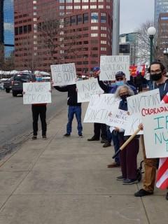Denver protest against U.S. sanctions on Iran.