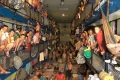 Inside of a Colombian prison.