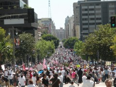 Huge march fills the street