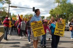 September 24 Minneapolis march against FBI repression.